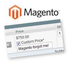 Magento Custom Price Lost on Order Edit